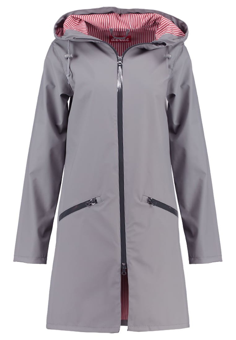 Derbe CLOUDY Parka grey/red striped - 01-46