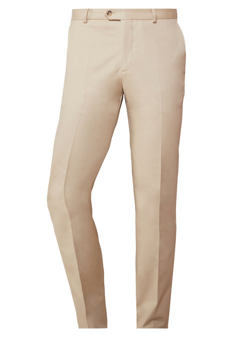 Editions MR CHINO TAILORED TROUSERS Chinosy plain beige - 0720-T604