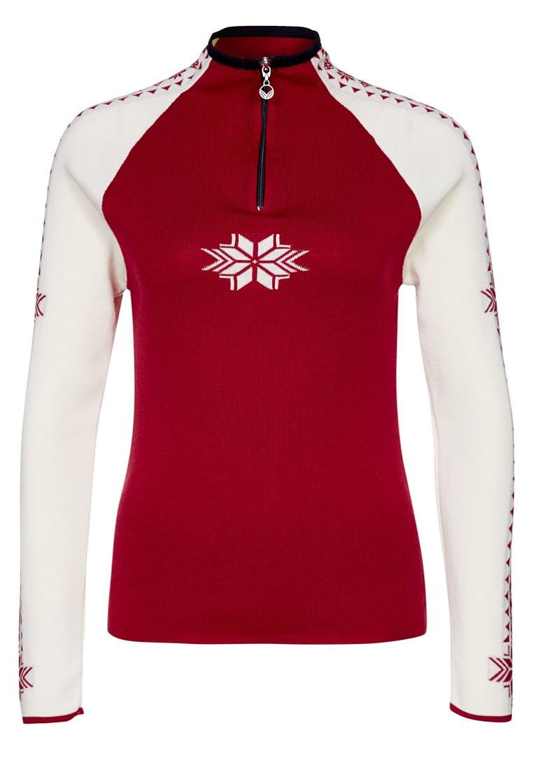 Dale of Norway GEILO Sweter raspberry/off white/navy - 82311