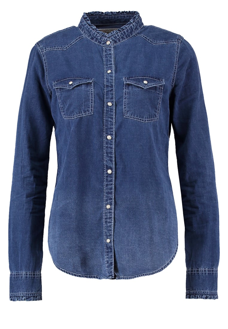 Abercrombie & Fitch Koszula darkblue denim - KI140-6606