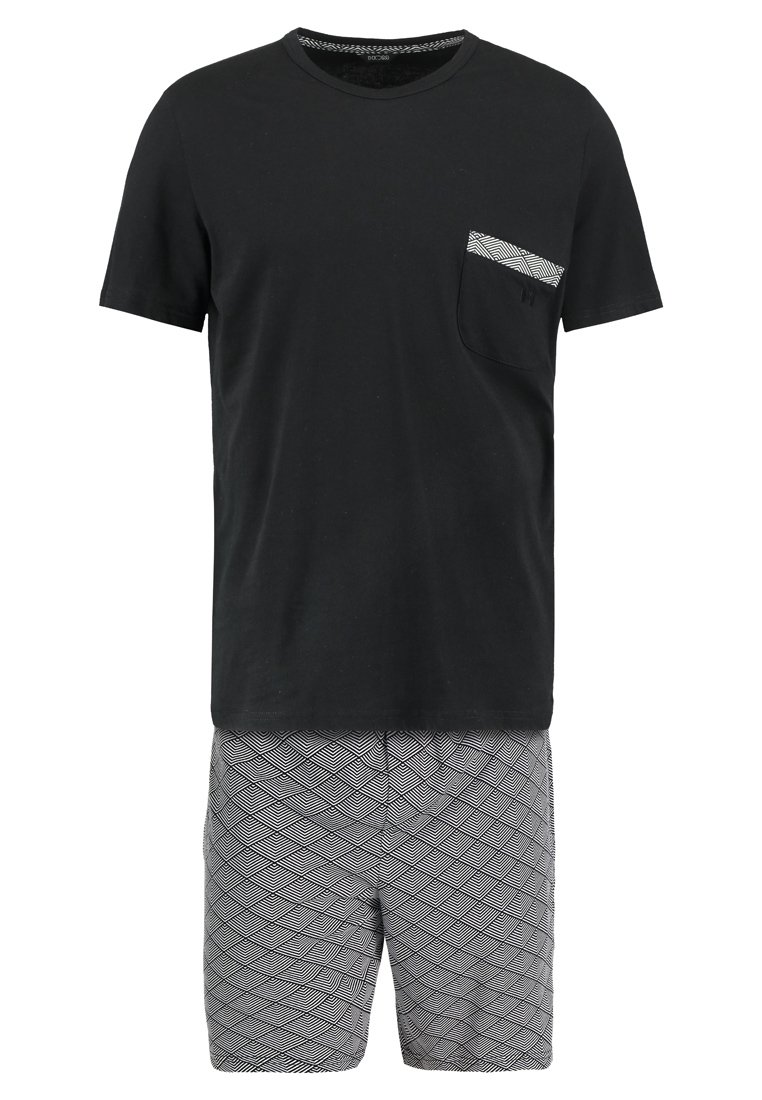 HOM KALEIDO SHORT SLEEPWEAR Piżama black/white - 400799