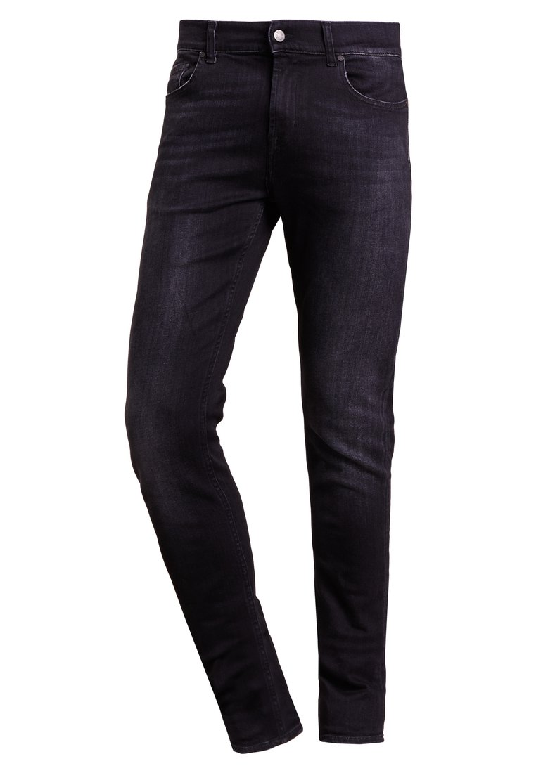 7 for all mankind RONNIE Jeansy Slim Fit black washed - JSD4R480VP