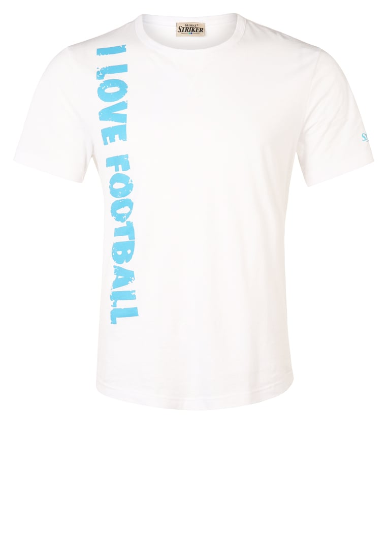 Global Striker Tshirt z nadrukiem white/light blue - 12513