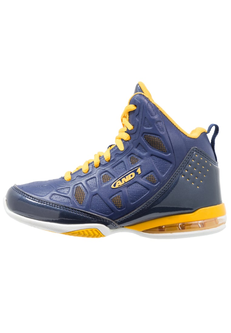 AND1 MASTER 3 Buty do koszykówki navy/yellow/white - D1097B