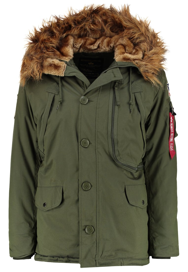 Alpha Industries Kurtka zimowa dark green - 123144