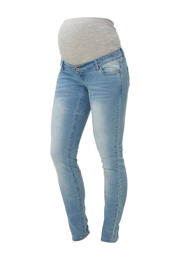 MAMALICIOUS Jeansy Slim fit light blue denim - 20006203