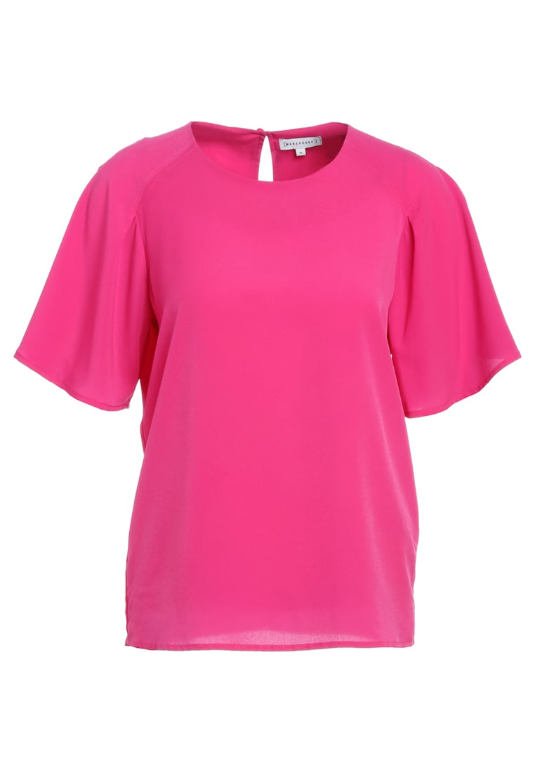 Warehouse Bluzka pink - Pleated Sleeve T-shirt