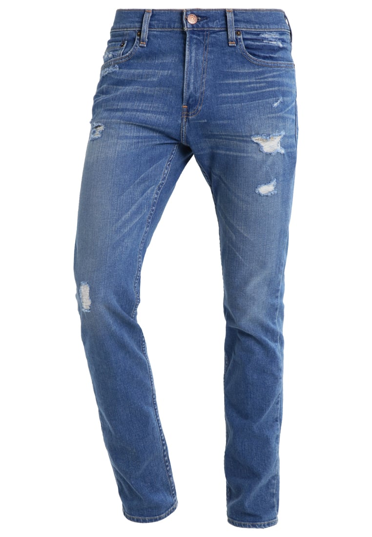 Hollister Co. Jeansy Slim fit destroyed denim - KI331-7012