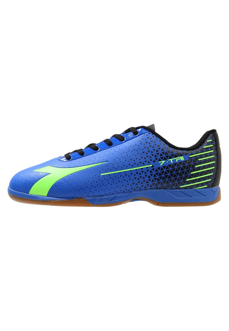 Diadora TRI ID Buty do tenisa Indoor imperial blue/lime punch/black - 101.173262