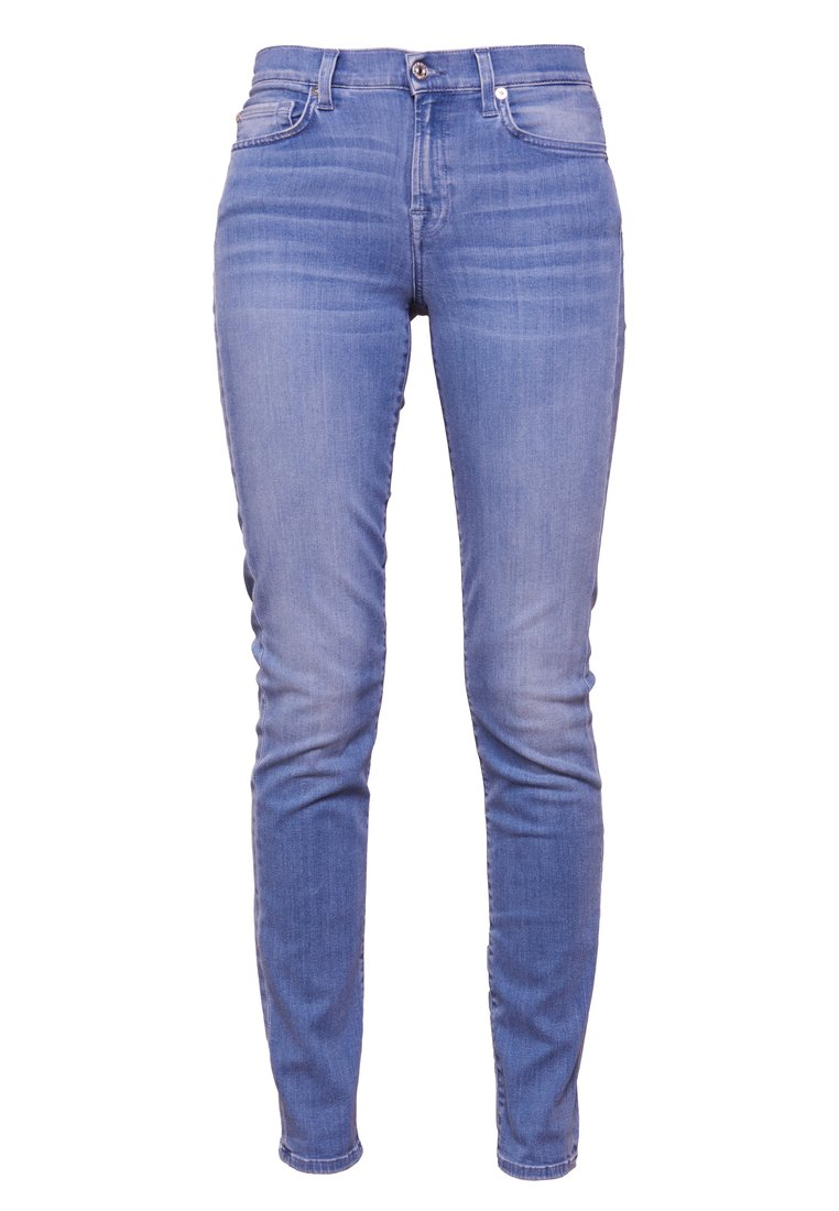 7 for all mankind ROXANNE CROP UNROLLED Jeansy Slim Fit illusion luxe riviera - JSLJR710