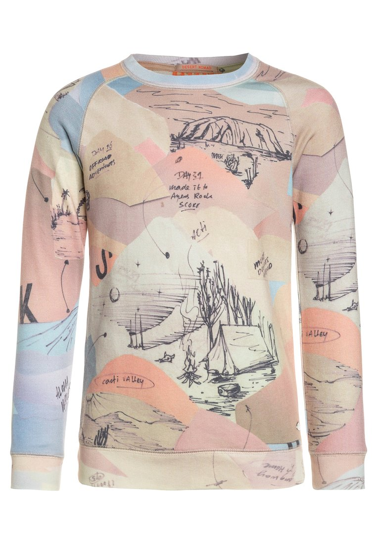 Scotch Shrunk ALLOVER PRINTED CREWNECK WITH 7 LIGHTS OF DAY ARTWORK Bluza multicolor - 143865