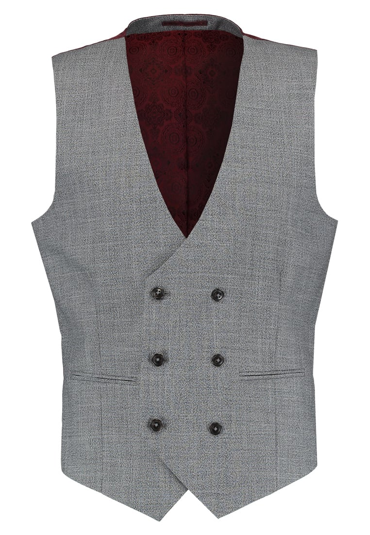 Burton Menswear London Kamizelka garniturowa grey - 02S09LGRY