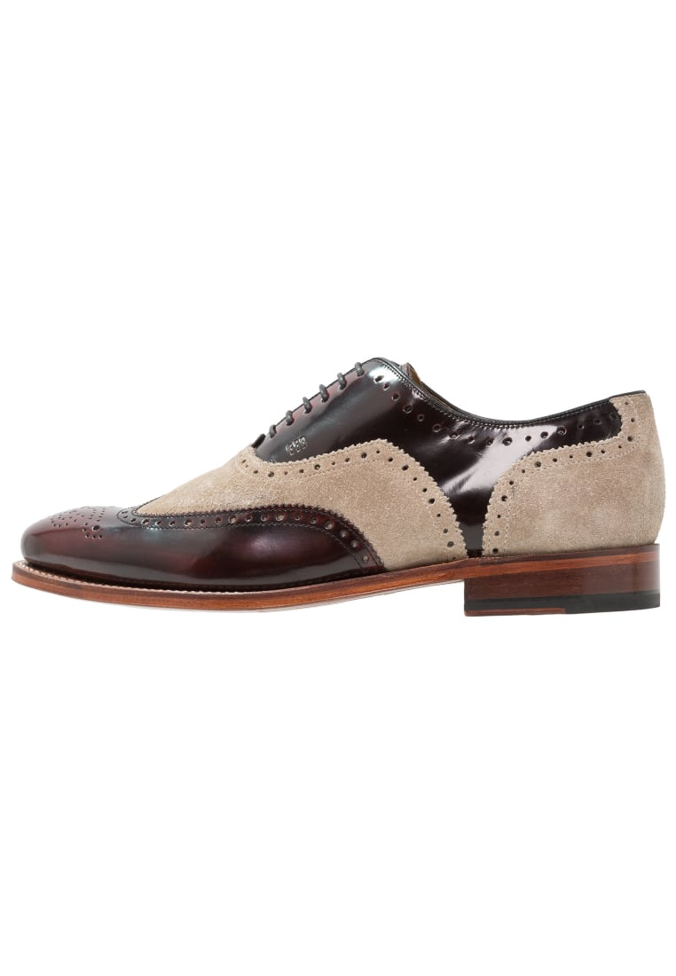 Gordon and Bros FABIEN Oksfordki burgundy/sand - 3859