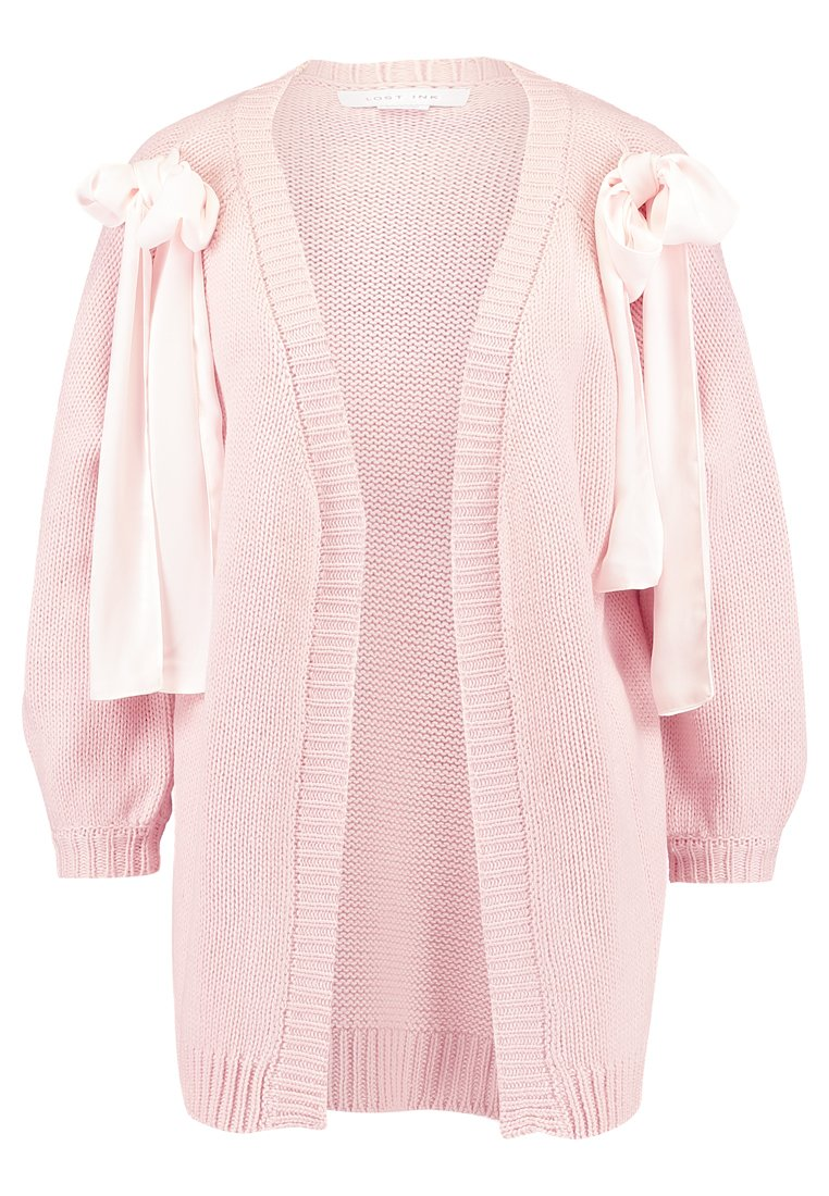 Lost Ink BOW NECK CARDIGAN Kardigan light pink