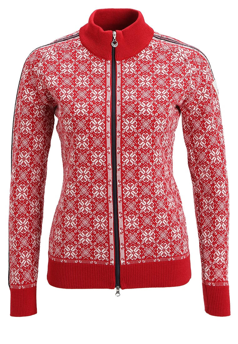 Dale of Norway FRIDA Sweter raspberry/off white/navy/metal - 82931