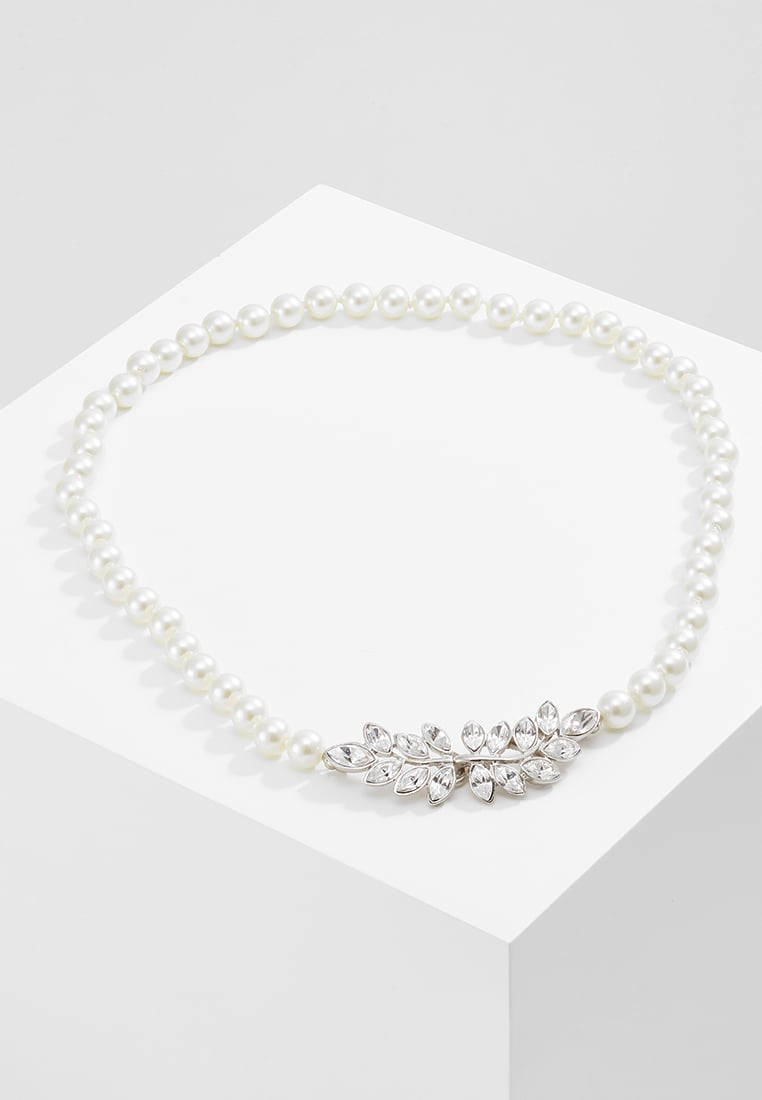 Kenneth Jay Lane LIGHT CULT PEARL WITHLEAF CLASP Naszyjnik offwhite - 6361N18SCLC