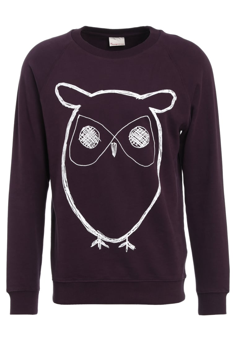 Knowledge Cotton Apparel BIG OWL Bluza plum perfect - 30295