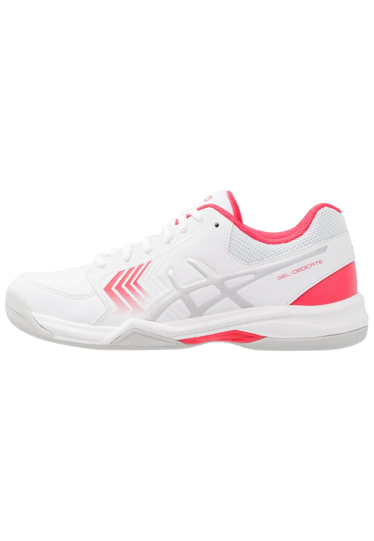 ASICS GELDEDICATE 5 Buty do tenisa Indoor white/silver/rouge red - E763Y