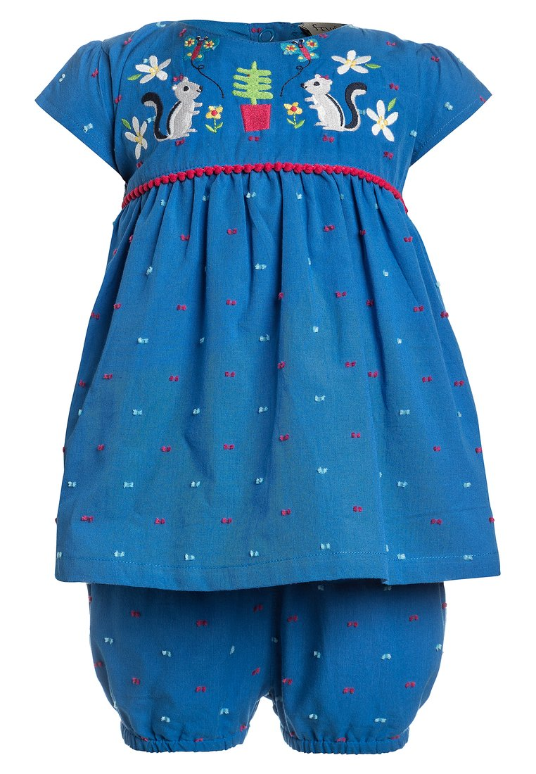 Frugi BABY WATERFALL OUTFIT SET Szorty sail blue - OFS805SLY