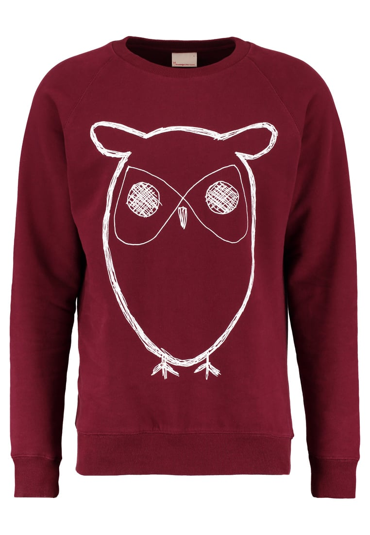 Knowledge Cotton Apparel BIG OWL Bluza tawny red - 30295