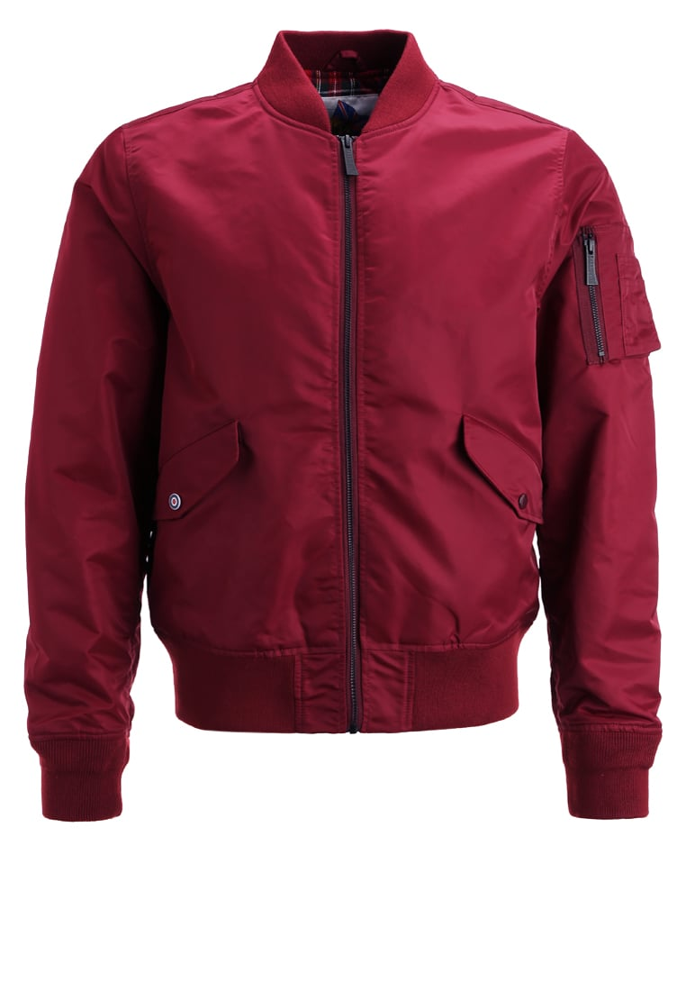 HARRINGTON Kurtka Bomber bordeaux - BOMBER MA1