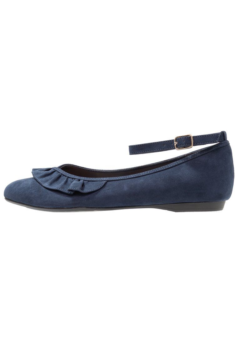 New Look Wide Fit WIDE FIT JILLIAN Baleriny z zapięciem navy