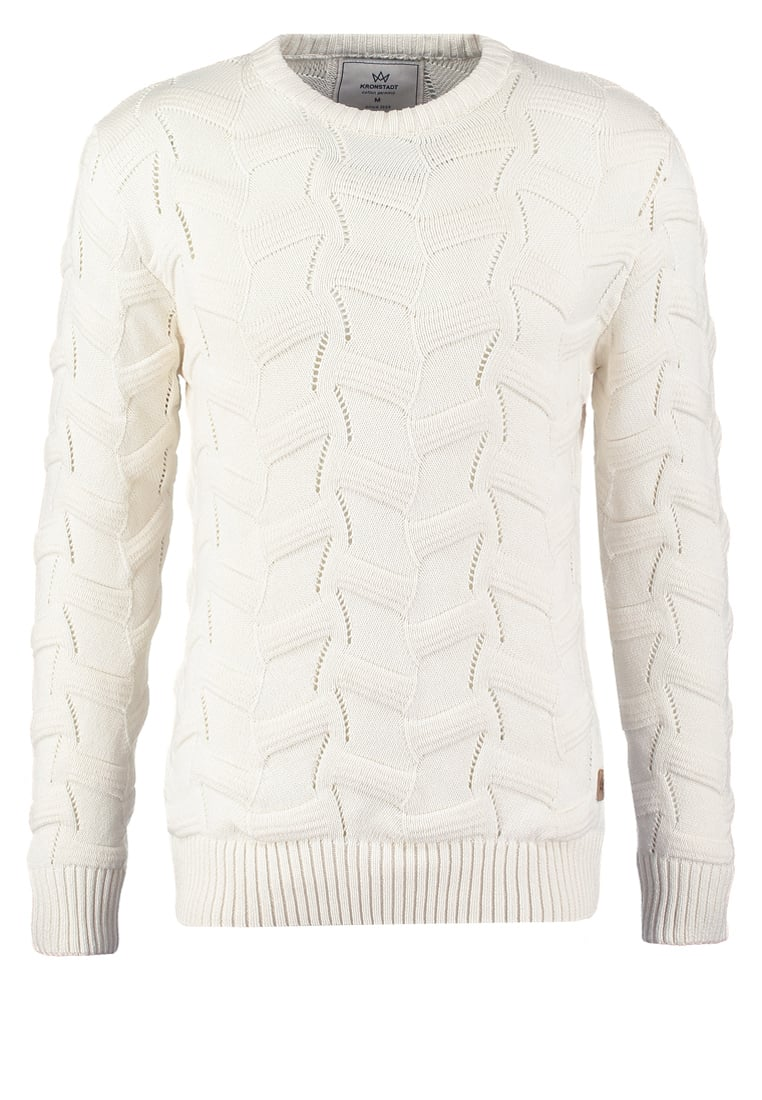 Kronstadt HUGO Sweter off white - KS1079