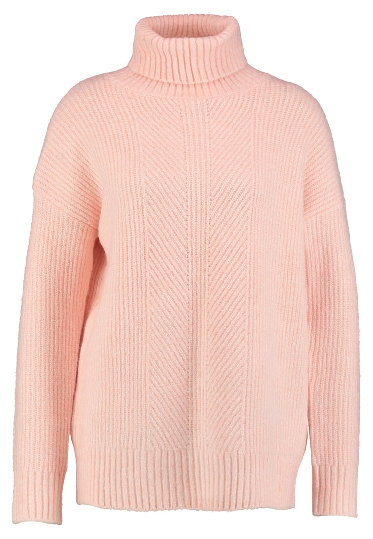 Wallis TWIST COMPACT ROLL NECK Sweter coral