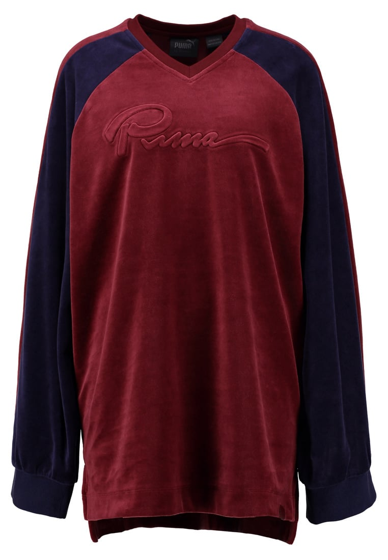 Fenty PUMA by Rihanna OVERSIZED VNECK Bluza tawny port/evening blue