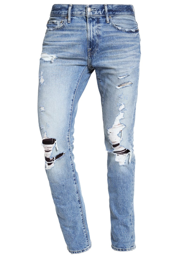Abercrombie & Fitch Jeansy Slim fit light destroyed - KI131-6123