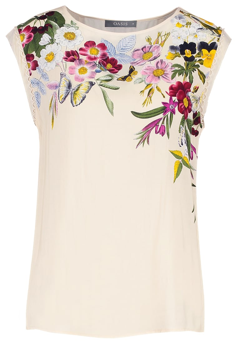 Oasis Bluzka multi/ivory - SPRING PLACEMENT TEE