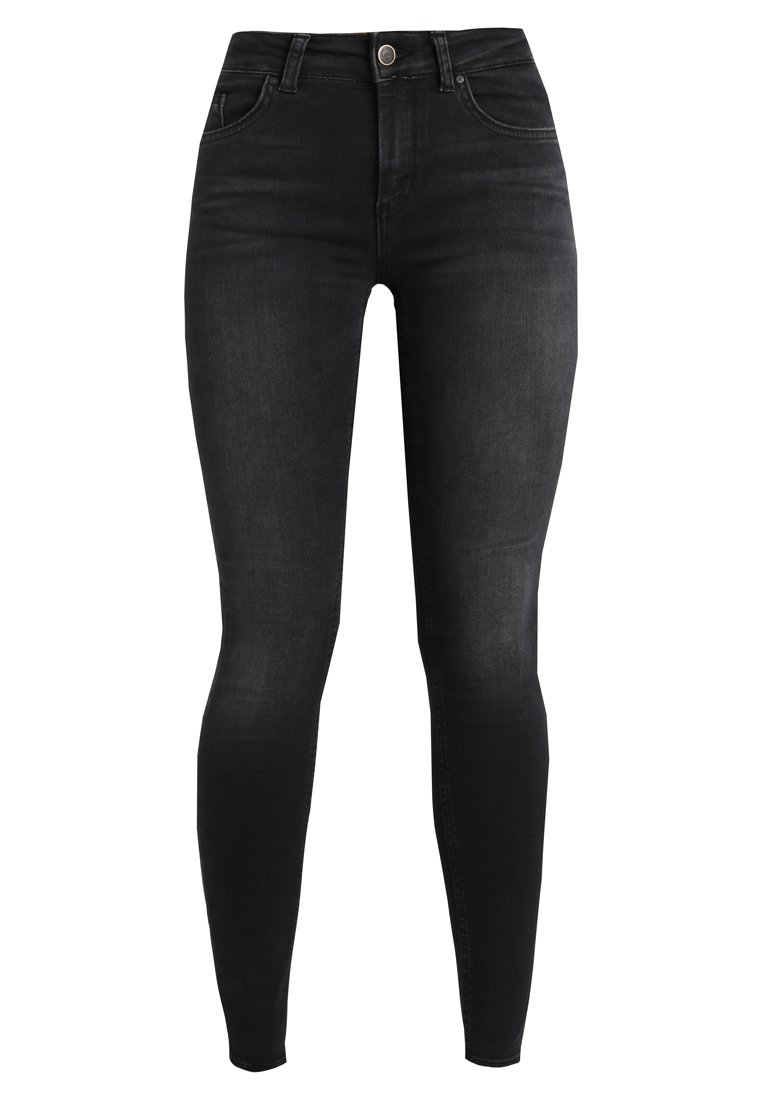 Only Petite ONLBLUSH MID ANKLE RAW Jeans Skinny Fit black denim - 15162197