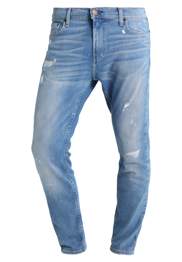 Hollister Co. ANKLE Jeansy Slim fit medium repair - KI331-7052
