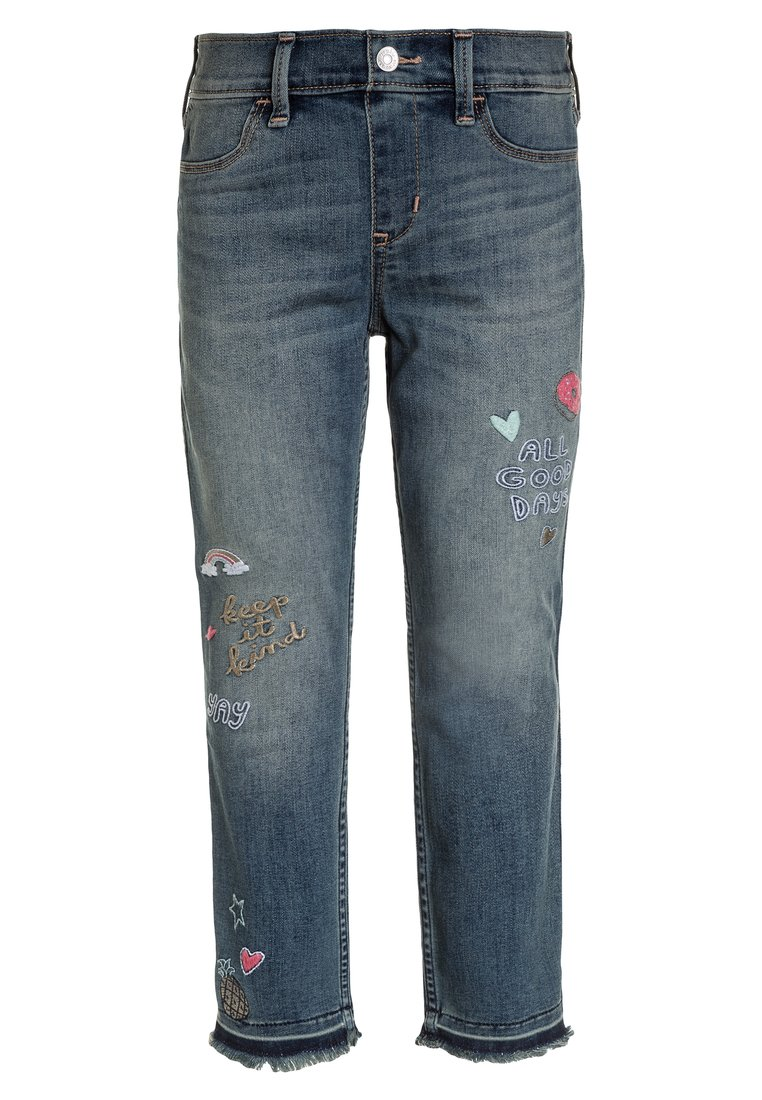 Abercrombie & Fitch ANKLE PULL ON Jeansy Slim Fit medium wash - KI255-8001