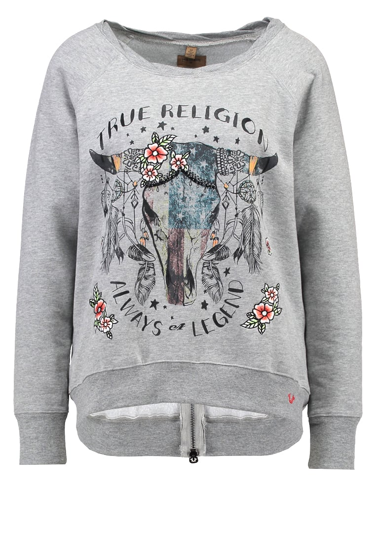 True Religion Bluza grey marl - W16HF19D2G