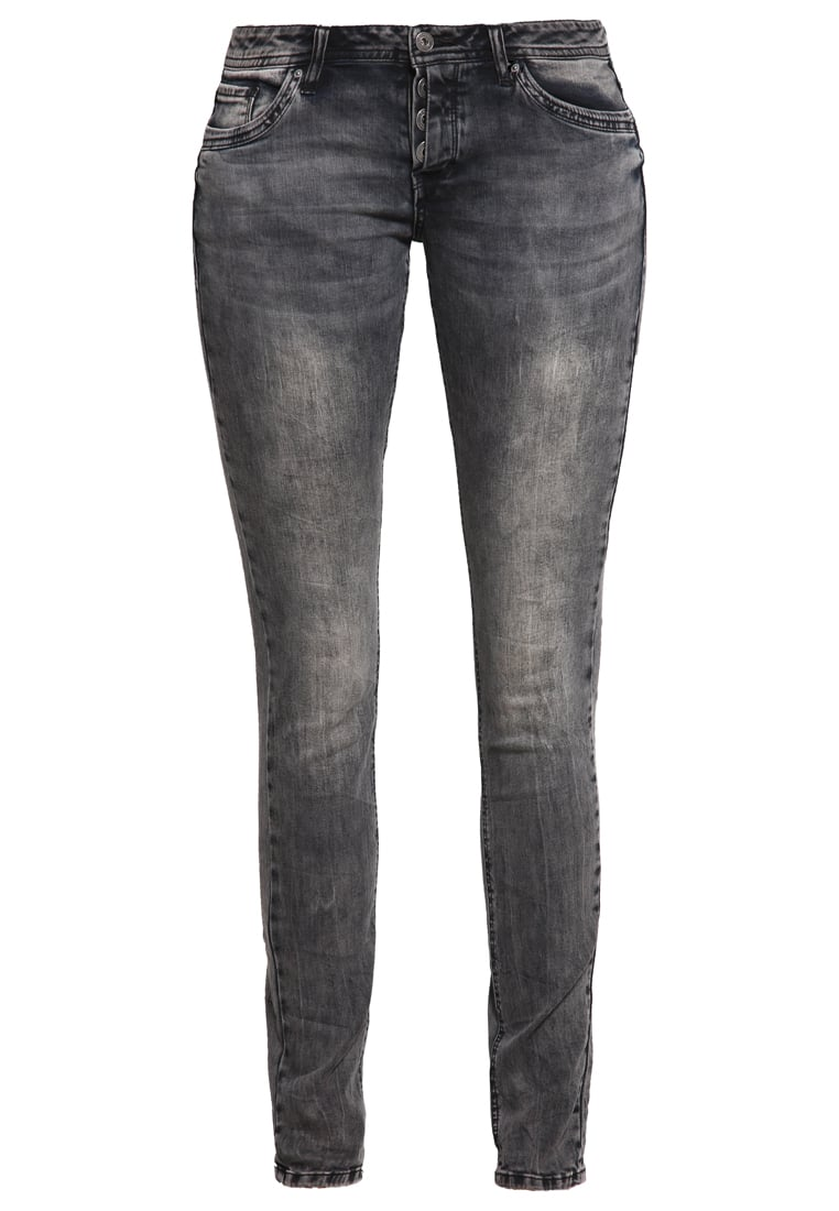 Q/S designed by Jeansy Slim fit black denim heavy stone washed - 41609712216