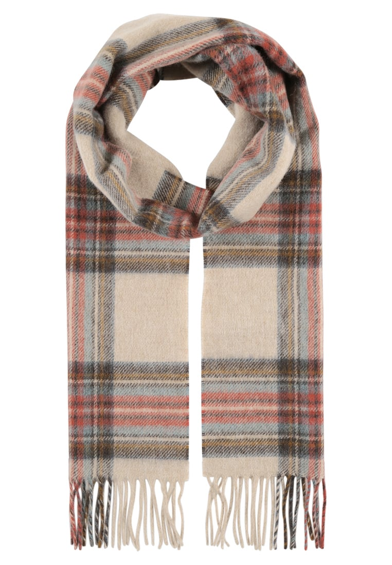 Barbour COUNTRY CHECK Szal cream - LSC0137
