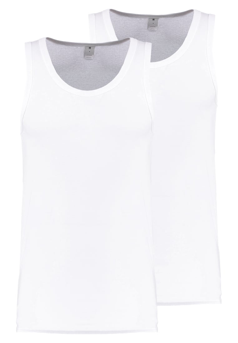 GStar BASE TANK T 2PACK Top white - D07206