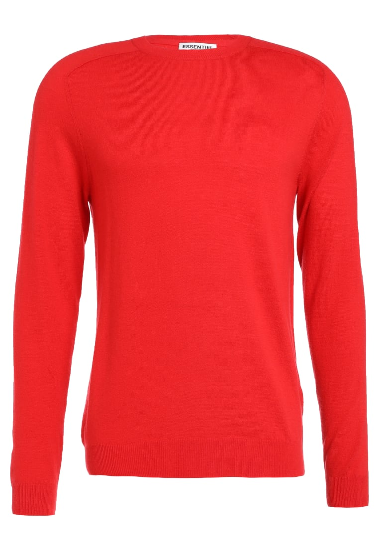 Essentiel Antwerp INCEPTION Sweter romeo red - M-Inception Knit Crew Neck