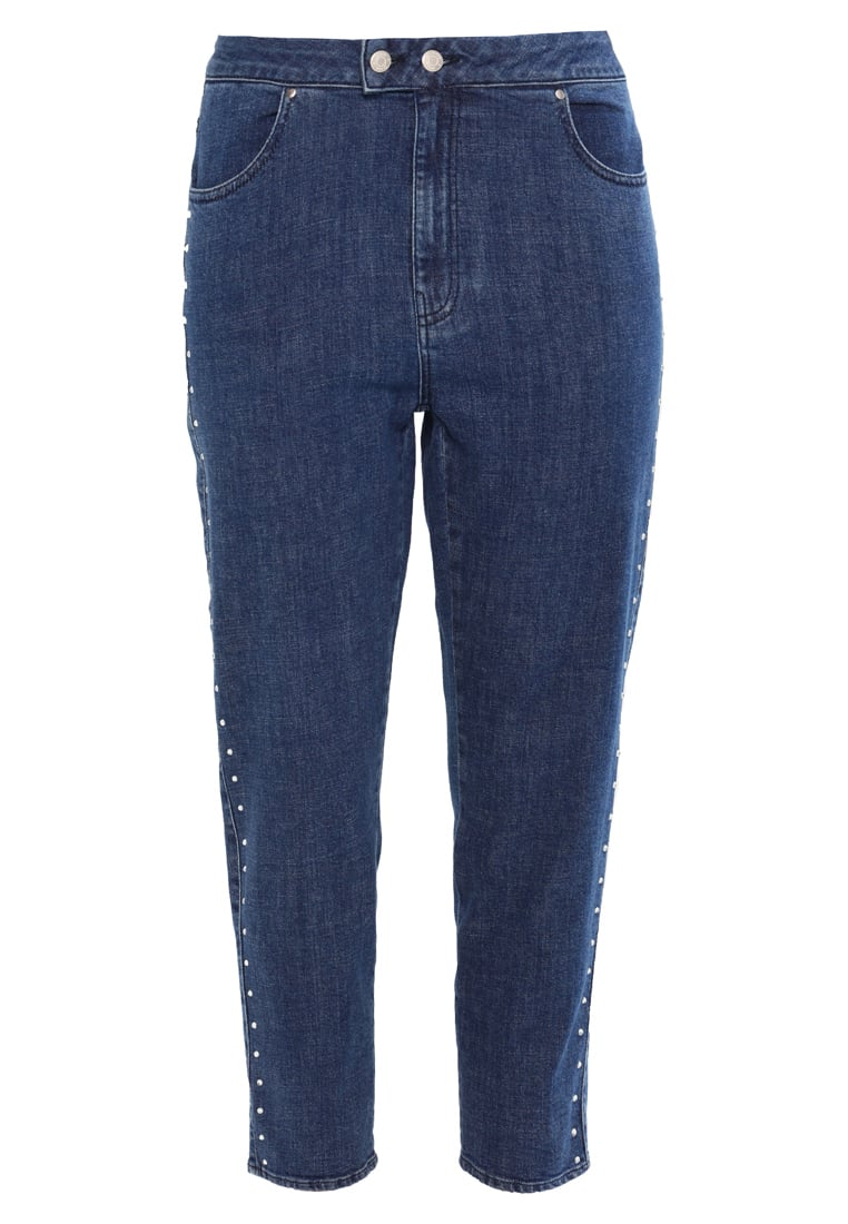Jaded London MOM WITH DIAMONTE SIDES Jeansy Relaxed Fit blue denim - JWL126