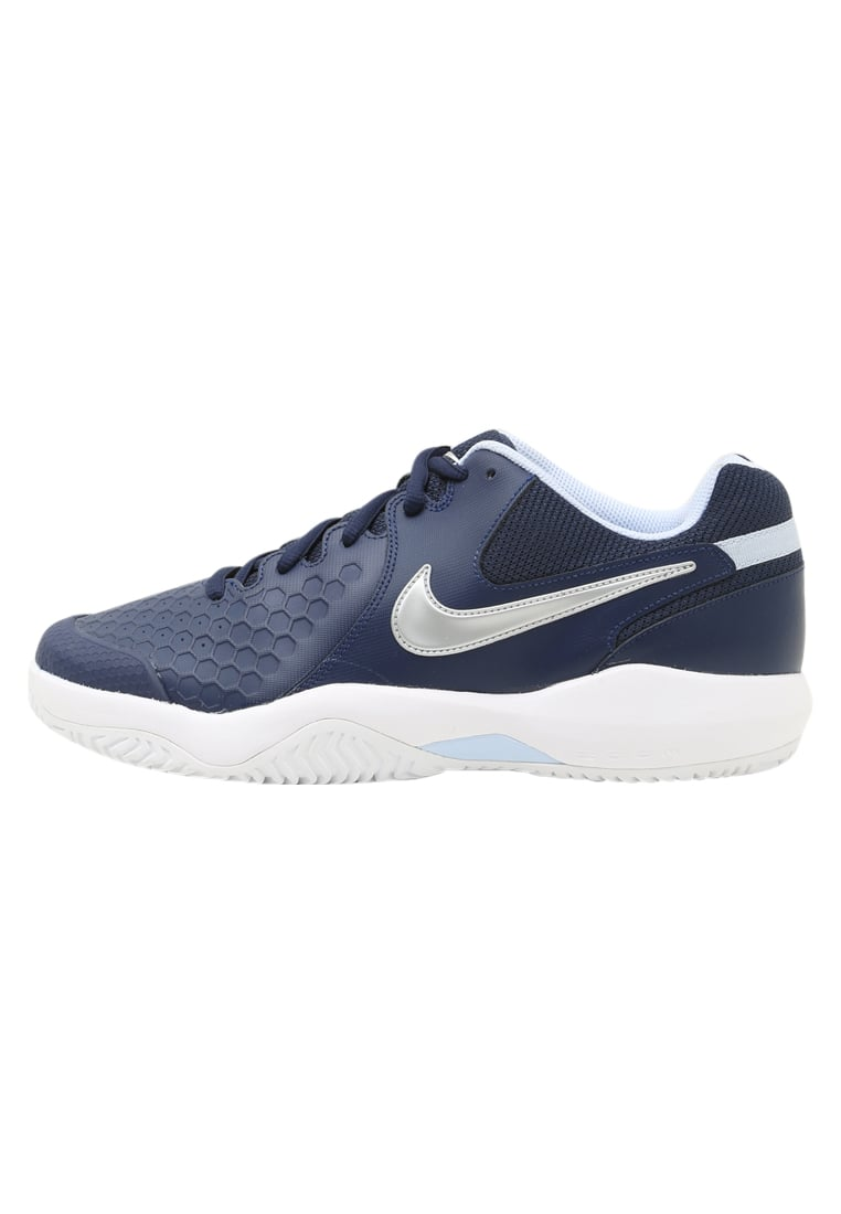 Nike Performance AIR ZOOM RESISTANCE Buty multicourt midnight navy/metallic silver/hydrogen blue/white - 918194