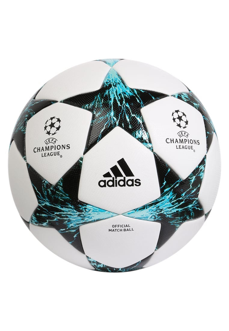 adidas Performance FINALE 2017 OFFICIAL MATCH BALL Piłka do piłki nożnej white/cobalt black/dark green - NCM69