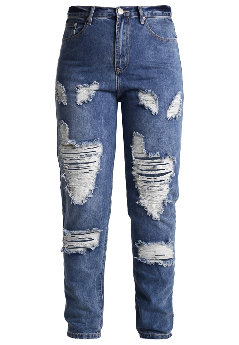 Glamorous Curve Jeansy Relaxed fit mid blue stone wash - JL5273X