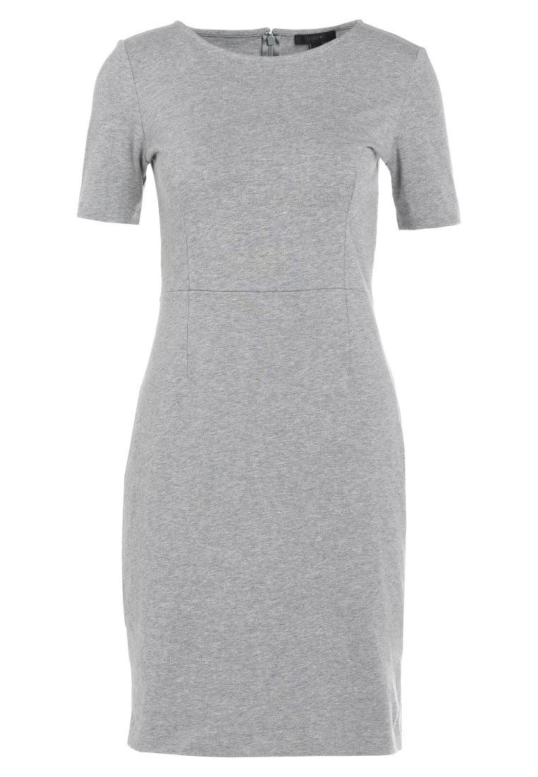 J.CREW CHLOE DRESS SOLID Sukienka etui heather grey