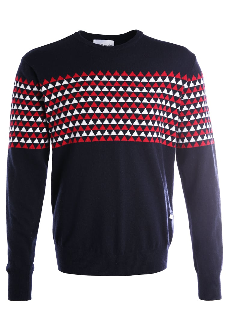Loreak CREWNECK FISHER Sweter acru/red/navy - LM46048326