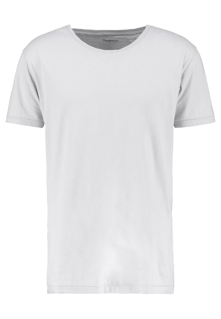 Knowledge Cotton Apparel BASIC FIT ONECK Tshirt basic micro chip - 10110