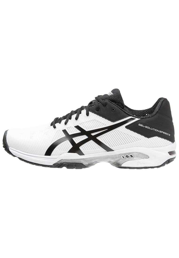 ASICS GELSOLUTION SPEED 3 Buty do tenisa Outdoor white/black/silver - E600N