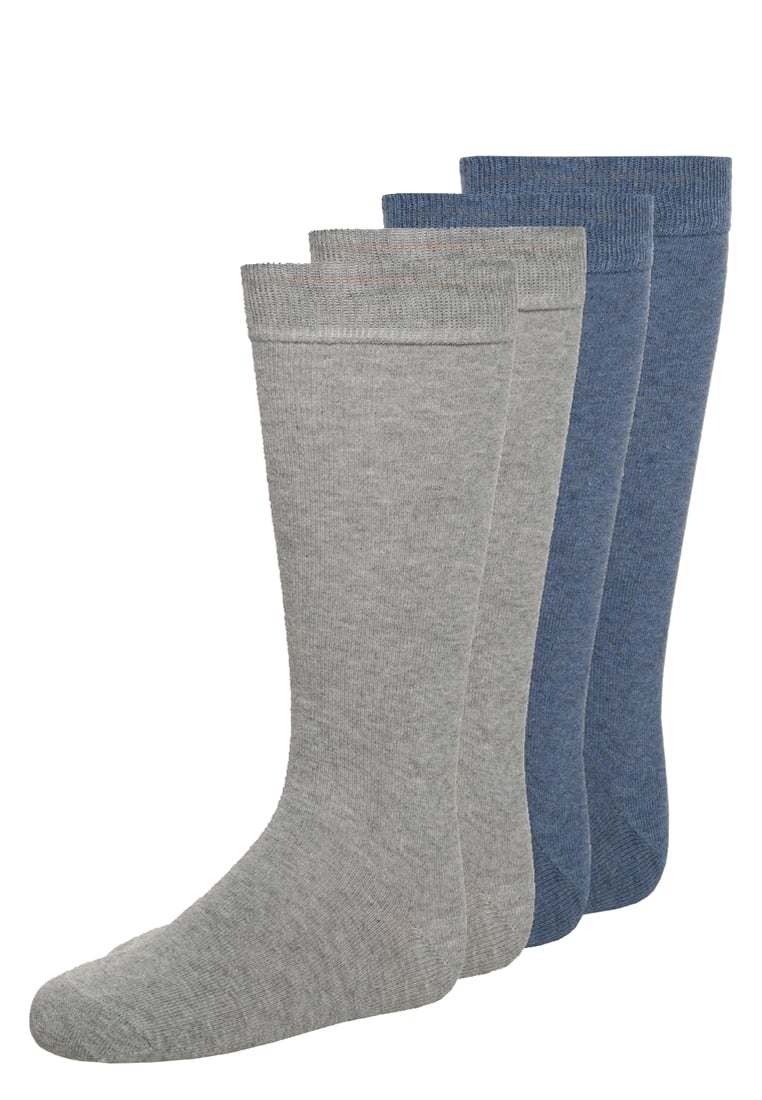 camano 4 PACK Podkolanówki denim melange/light grey melange anthracite - 3902000