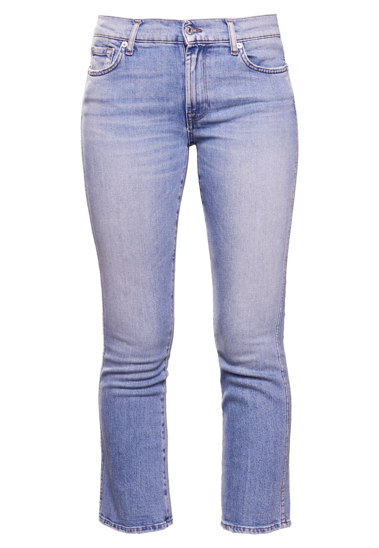 7 for all mankind CROPPED Jeansy Bootcut eclipse blue - JSYRU120