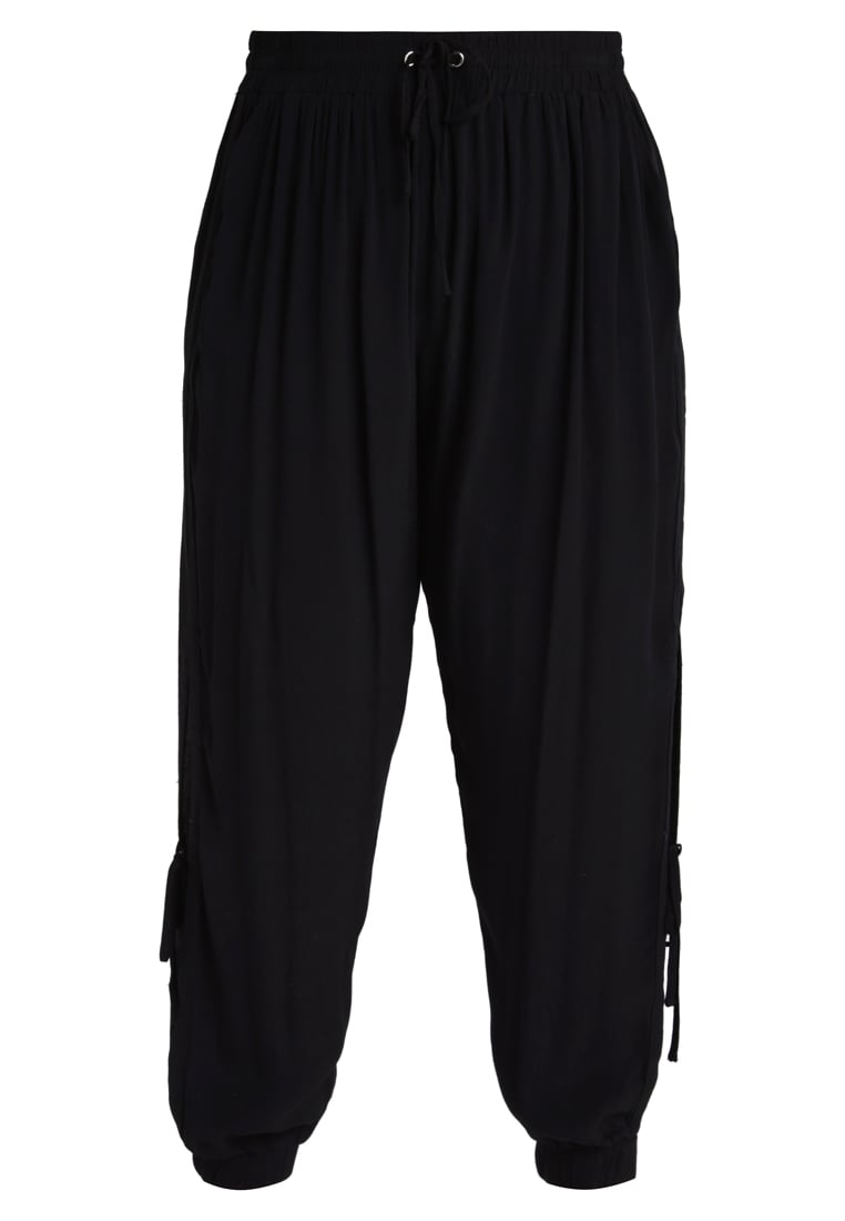 City Chic JOGGER SIDE Spodnie treningowe black - 00124046